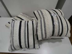 6 white and black cushions