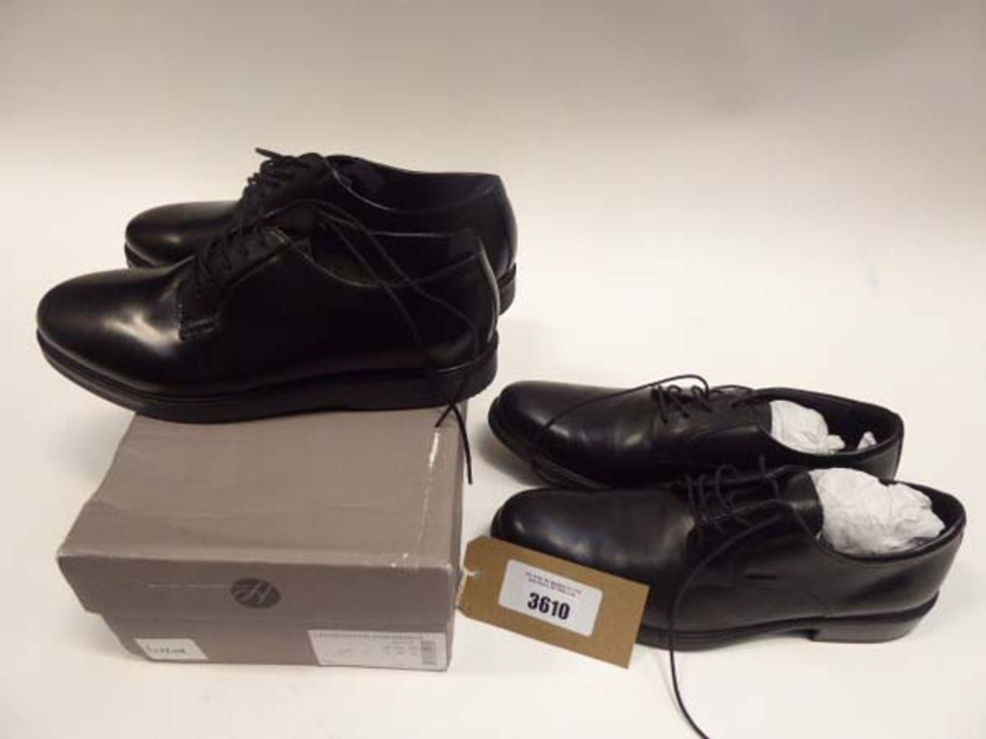 Hudson Calverston Postman leather shoes size 9 and a pair of Geox leather shoes size EU 43.5