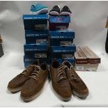 9 Pairs of boxed Sketchers trainers various sizes and designs together with 2 pairs of gents unboxed