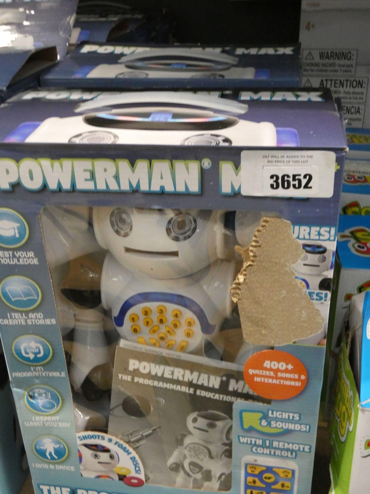 2 boxed plus 2 unboxed power max education robots