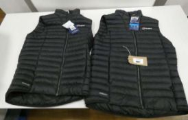 2 Berghaus gilets in dark blue size M and L