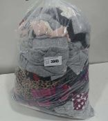Large bag containing ladies loungewear in various sizes and colours including DKNY