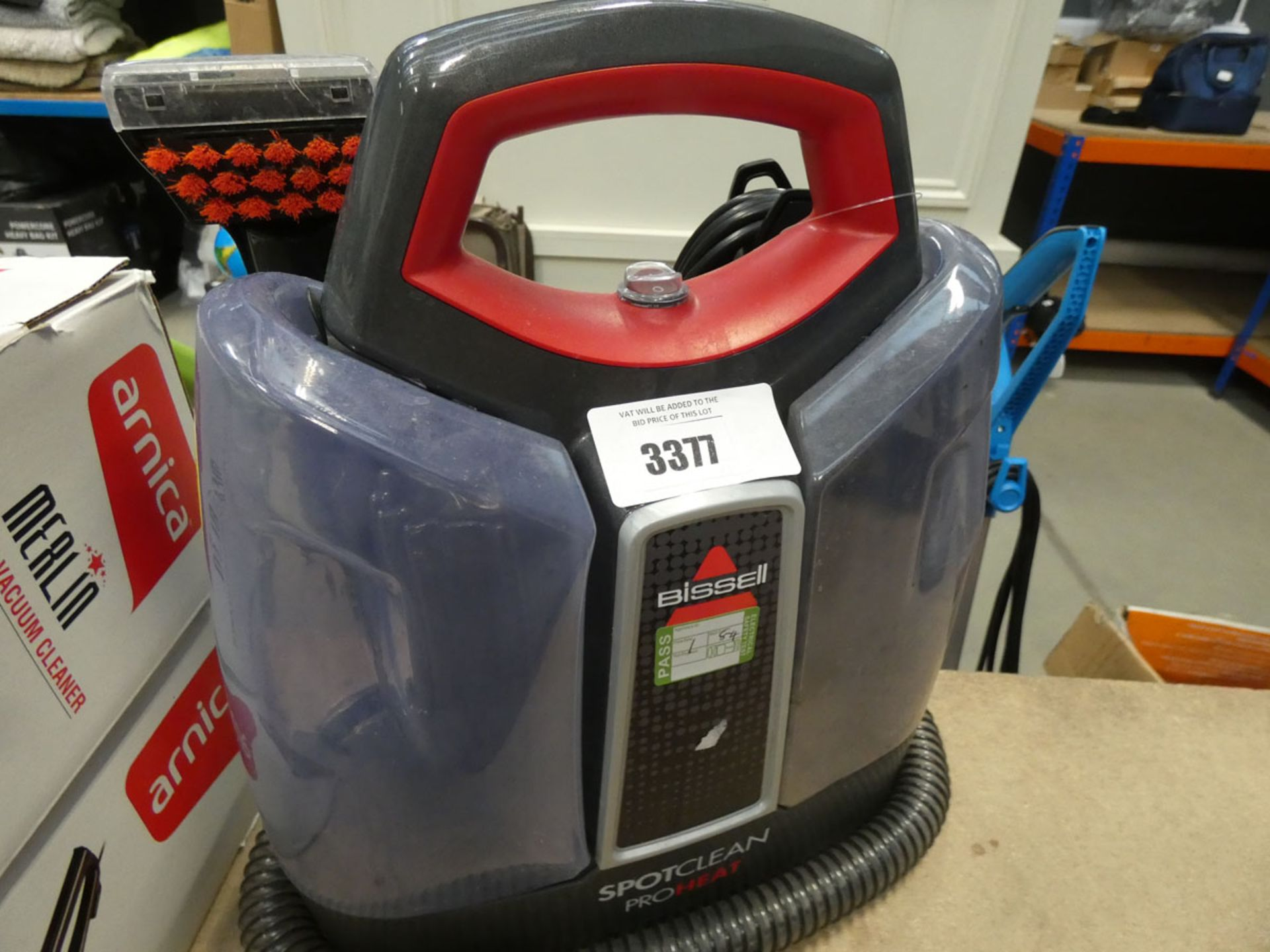 (TN84) Unboxed Bissell upholstery and carpet washer