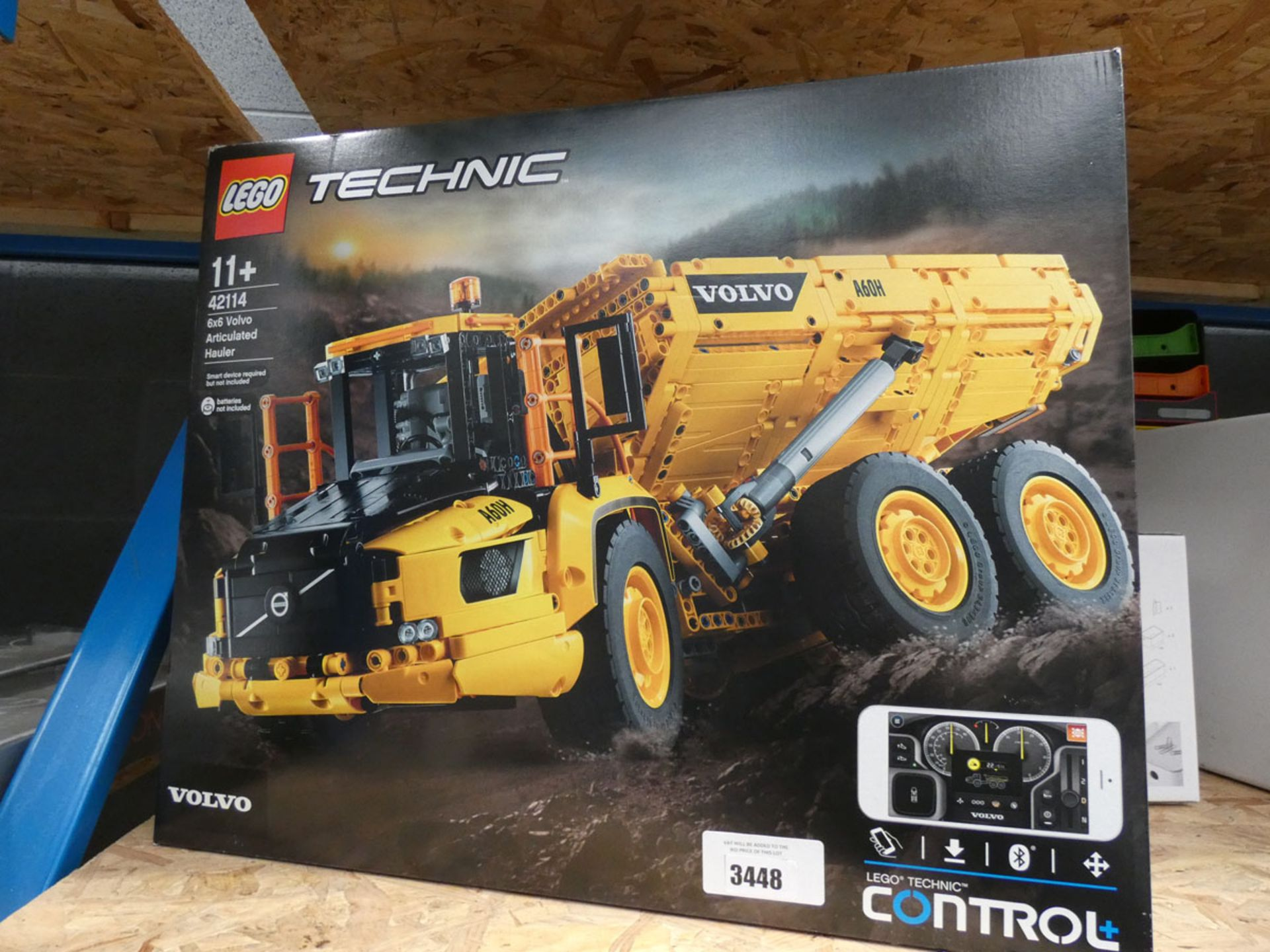 Boxed Lego Technic 6x6 Volvo articulated hauler