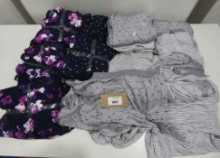 Bag of ladies DKNY loungewear in various sizes, colours dark blue and grey