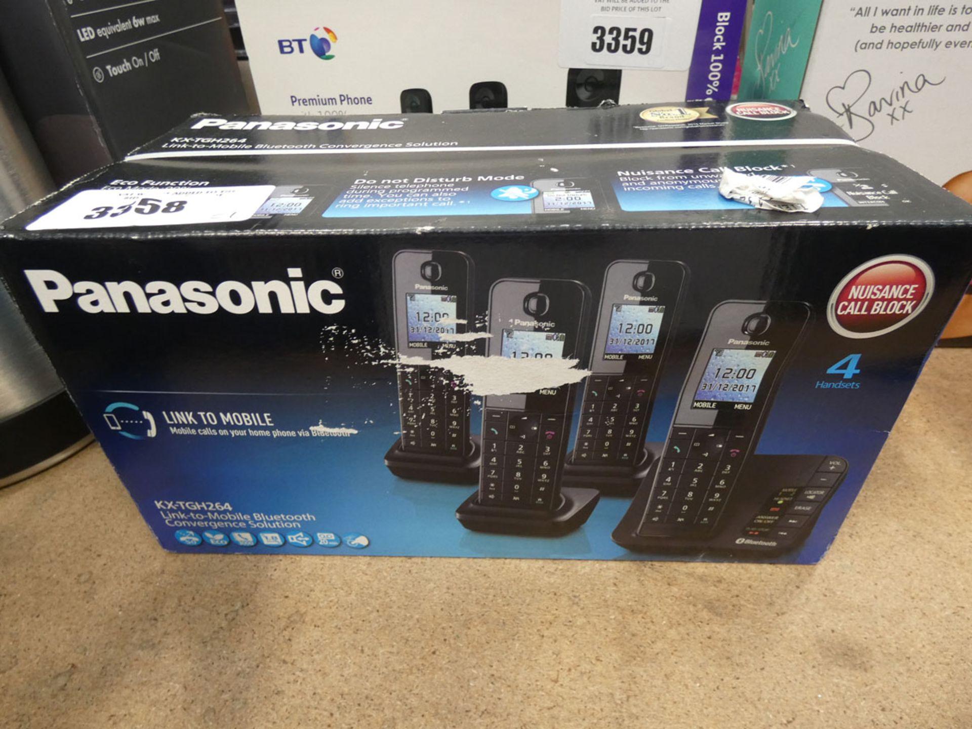 3123 - Panasonic KXTGH264 link to mobile bluetooth coverage set