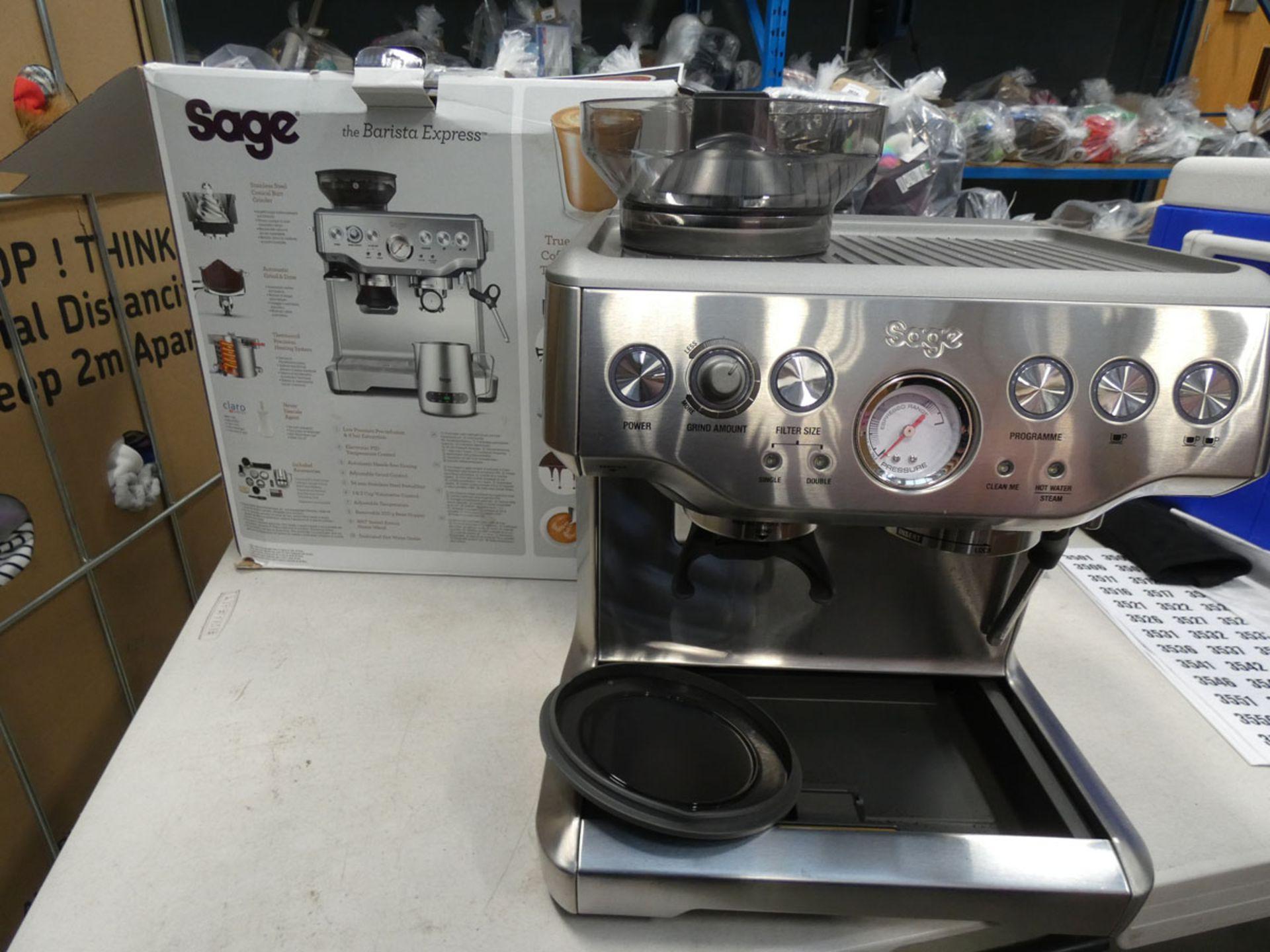 (TN61) Boxed Sage Barista Express coffee machine