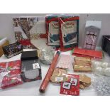 Christmas decorations, Yankee Candle advent calendar, tree storage bags, gift boxes and gift wrap,