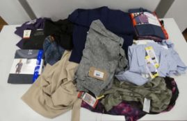 Bag containing ladies mixed clothing including 32 Degree Heat, Jezebel and DKNY hoodies, shirts,