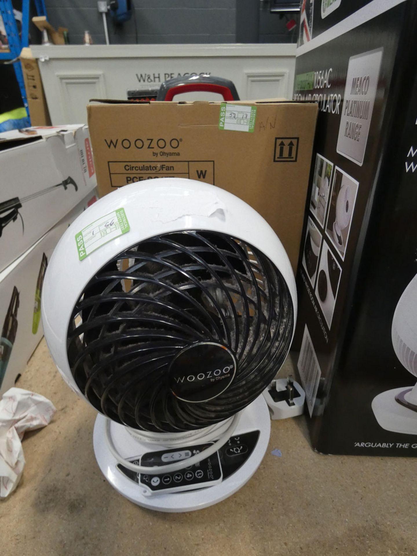 (TN13) Boxed Woozoo desktop fan plus one unboxed (3176)