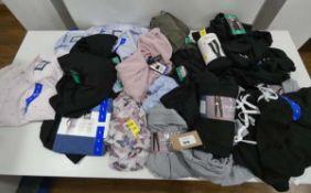 Large bag of womens mixed clothing including shirts, trousers, t-shirts, sweatshirts, leggings,