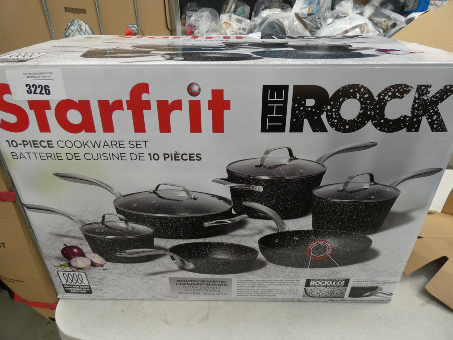 Boxed Starfrit The Rock cookware set
