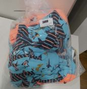 Bag containing 20 childrens 3 piece pyjama sets for various ages