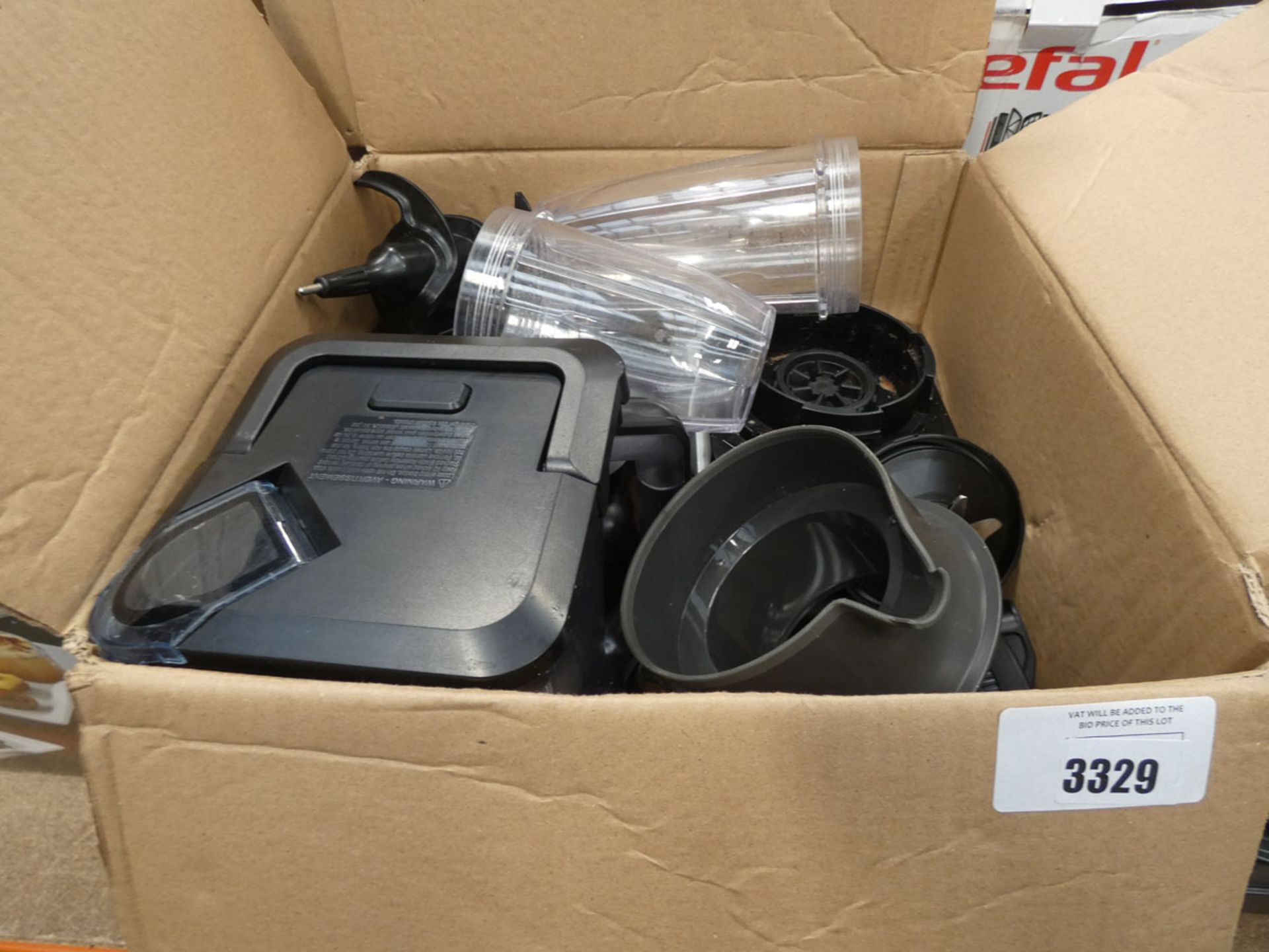 (TN91) Box containing a Ninja blender with attachments