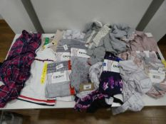 Bag of ladies mixed clothing to include DKNY loungewear and a Jones of New York parker (mixed