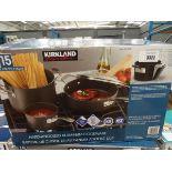 Boxed Kirkland aluminium cookware set
