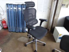 Ergohuman executive high back swivel armchair with mesh seat pad and back