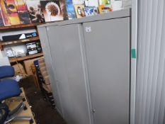 90cm Bisley grey 2 door filing cabinet