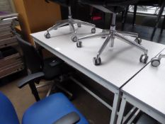 150 cm QMP high level metal frame grey top work station