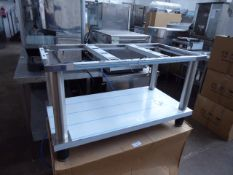 100cm stainless steel low level bench