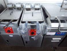 40cm electric Fri Fri Model Basic411 single tank fryer with 2 baskets