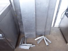 4 x 150cm stainless steel wall mount shelves with brackets