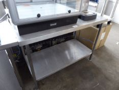 130cm stainless steel preparation table with shelf under