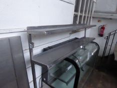 190cm 2 tier stainless steel gantry table