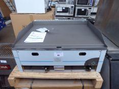 65cm gas RM Gastro FTH-60G 2 burner flat top griddle