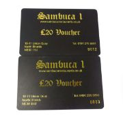Sambuca Restaurants (x2) - Total face value £40 VAT will be added to this lot