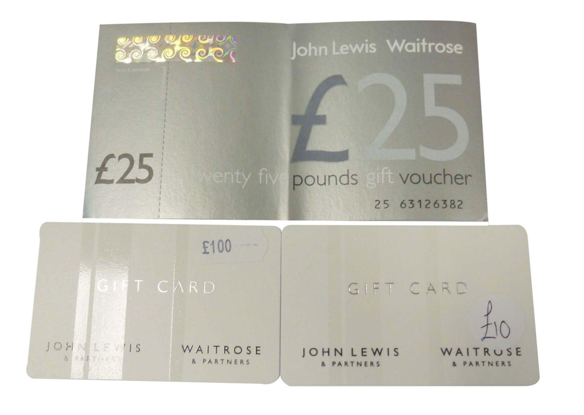 John Lewis (x3) - Total face value £135