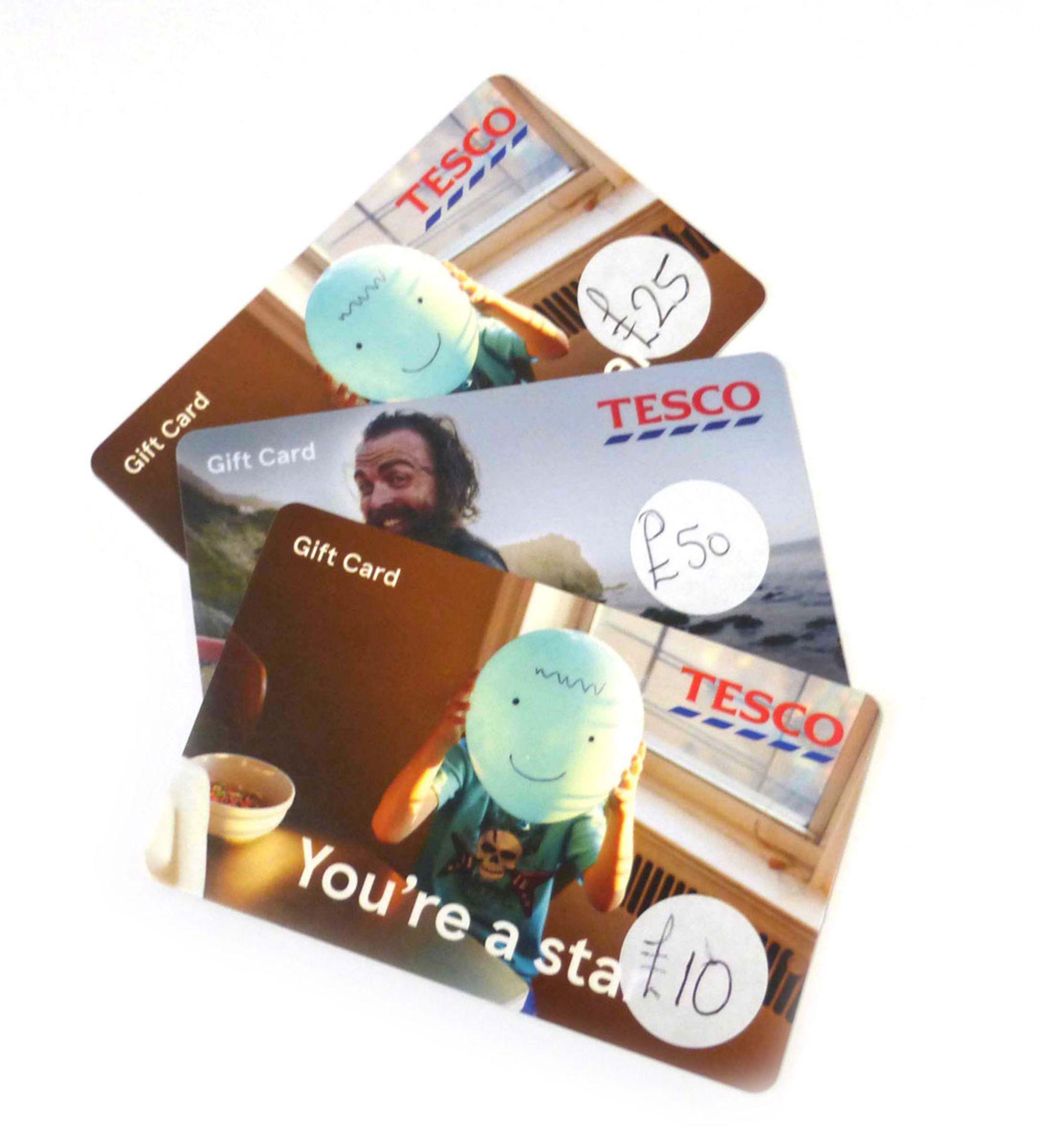 Tesco (x3) - Total face value £85