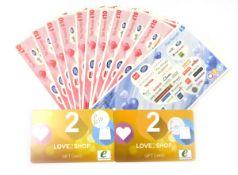 Love 2 Shop (x4) - Total face value £135