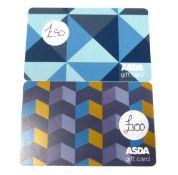 Asda (x2) - Total face value £150