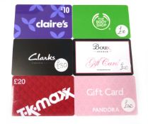 Various : Fashion & Cosmetics (x6) - Total face value £120