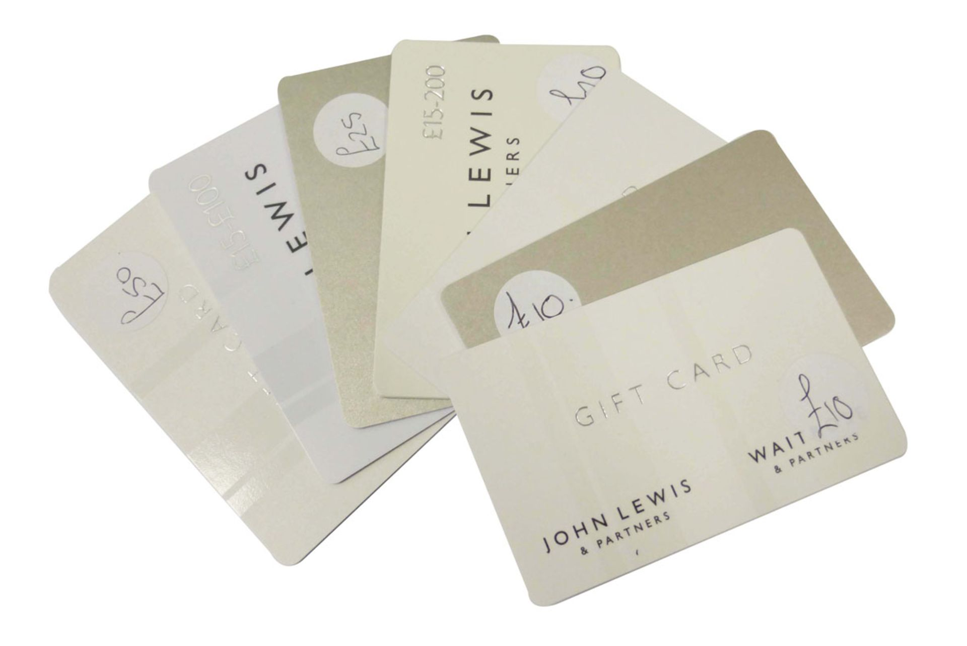 John Lewis (x7) - Total face value £155