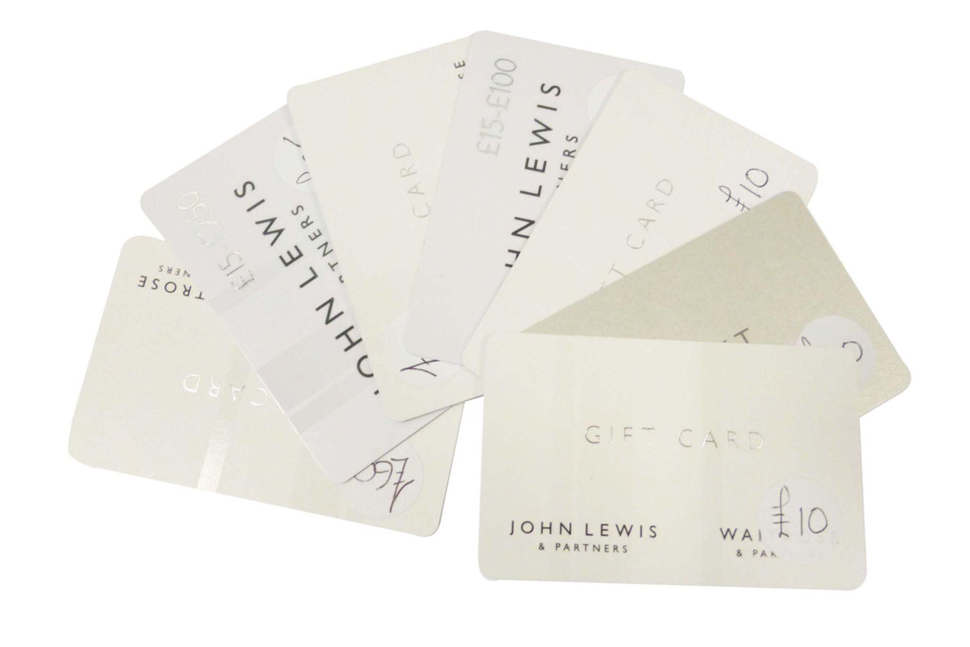 John Lewis (x7) - Total face value £180