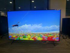 R17, 75'' Sony 4K UHD TV, model KD-75XH8096, to include box no. B16
