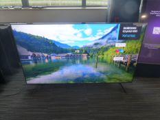R28 & R29, 70'' Samsung 4K UHD TV, model UE70TU7100K, to include box no. B106