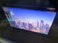 R14, 55'' Hisense 4K UHD TV, model 55U7QFTUK, to include box no. B92
