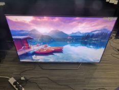 R16, 55'' Hisense 4K UHD TV, model 55U7QFTUK, to include box no. B94