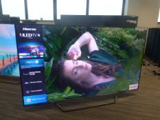 R31, 55'' Hisense 4K UHD TV, model 55U7QFTUK, to include box no. B108