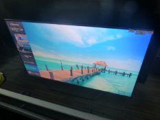 R15, 55'' Hisense 4K UHD TV, model 55U7QFTUK, to include box no. B93