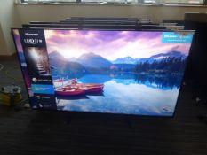 R62, 65'' Hisense 4K TV, model 65A7100FTUK, to include box no. B8