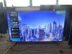 R42, 55'' Hisense 4K UHD TV, model 55A7100FTUK, to include box no. B119