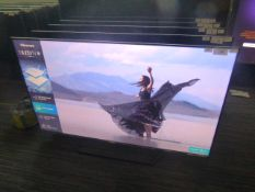 R11, 55'' Hisense 4K UHD TV, model 55U7QFTUK, to include box no. B89