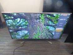 R7, 50'' LG 4K UHD TV, model 50UN81006LB, to include box no. B86