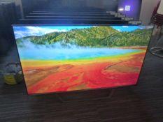 R10, 55'' Hisense 4K UHD TV, model 55AE7400FTUK, to include box no. B88