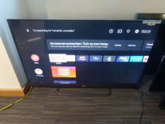 R21, 55'' TCL 4K TV, model 55EC788, to include box no. B99, the box also has missing foam inserts