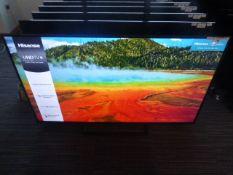 R64, 65'' Hisense 4K TV, model 65B7300UK, to include box no. B10